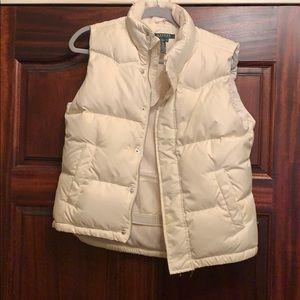 Ralph Lauren Cream puffer vest